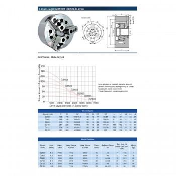 """5"""" 3 Ayaklı Hidrolik CNC Ayna"""